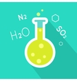 Laboratory Flask in Flat Style Design vector image
