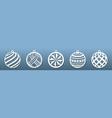 laser cut templates christmas balls new year vector image vector image