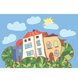 little cartoon houses vector image vector image