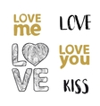 Love lettering set vector image vector image