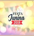 lovely festa junina 2019 background vector image