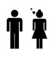 loving couple icon vector image vector image