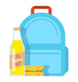 lunch box school icon flat style vector image vector image
