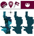 map of phoenix with neighborhoods vector image vector image