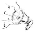 Megaphone sketch icon vector image vector image