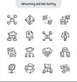 networking and web hosting hand drawn icons vector image vector image