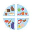 nutrition food fresh health image vector image vector image