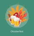 oktoberfest food and drinks vector image vector image