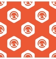 Orange hexagon tableware pattern vector image vector image