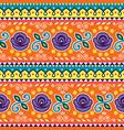 pakistani or indian jingle truck seamless pattern vector image