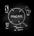 pancake recipe vector image