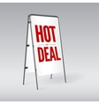 Pavement sign with the text Hot deal vector image vector image