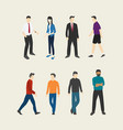people set collection with flat style vector image