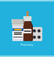 pharmacy poster medications vector image vector image