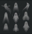 realistic ghost scary halloween apparition face vector image vector image
