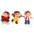 set monkey character vector image vector image