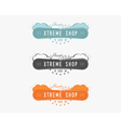 Set of Snowboarding extreme shop logo label vector image vector image
