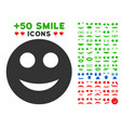 smile smiley icon with bonus emotion collection vector image vector image