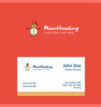 snowman logo design with business card template vector image vector image
