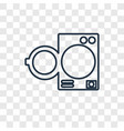traffic linear icon isolated on transparent vector image