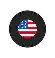 united states flag icon simple united states vector image vector image