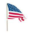usa flag waving on wind vector image