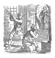 vintage drawing biblical story john the vector image vector image