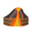 Volcano section vector image