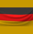 waving national flag of germany vector image
