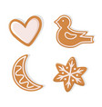 winter holiday cookies gingerbread isolated vector image