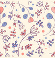 botanical floral pattern with cute branches and vector image