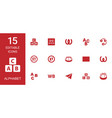 15 alphabet icons vector image vector image