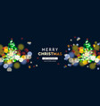 2020 new year christmas tree sparkle blur bokeh vector image vector image