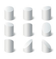 3d geometric shapes set set of white stand