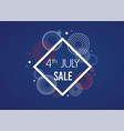 4th of july exclusive offers sale sale poster vector image vector image