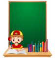 a boy student study vector image vector image