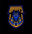 anubis head mascot logo vector image