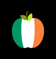 apple ireland flag irish national fruit vector image