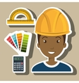 architect tool man work vector image vector image