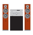 audio and home theater components vector image vector image
