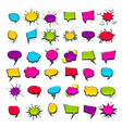 big set hand drawn effects comic speech bubbles vector image vector image