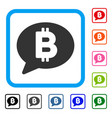 bitcoin message framed icon vector image