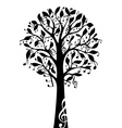 Black music tree isolated on white background vector image vector image