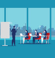 business team meeting working and talking co vector image vector image