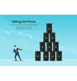 Businessman pulls the oil barrel vector image vector image