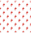 candy cane with bow pattern vector image vector image