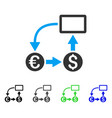 cashflow euro exchange flat icon vector image vector image