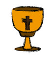 catholic cross chalice vector image vector image