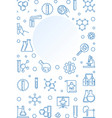 chemical vertical outline banner with round vector image