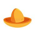 cinco de mayo nacho snack shaped hat vector image